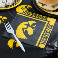 Creative Converting 669900 University of Iowa 2-Ply 1/4 Fold Luncheon Napkin - 240/Case