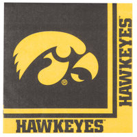 Creative Converting 669900 University of Iowa 2-Ply 1/4 Fold Luncheon Napkin - 240/Case