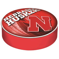 Holland Bar Stool BSCNebrUn-D2 14 1/2 inch University of Nebraska Vinyl Bar Stool Seat Cover