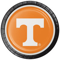 Creative Converting 329148 9 inch University of Tennessee Paper Plate - 96/Case