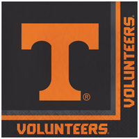 Creative Converting 329149 University of Tennessee 2-Ply 1/4 Fold Luncheon Napkin - 240/Case