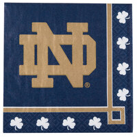 Creative Converting 654842 Notre Dame 2-Ply Beverage Napkin - 240/Case