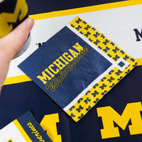 Creative Converting 331398 University of Michigan 2-Ply Beverage Napkin - 240/Case