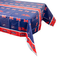Creative Converting 724893 54 inch x 108 inch University of Mississippi Plastic Table Cover - 12/Case