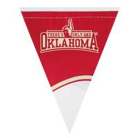 Creative Converting 294844 106 inch Plastic University of Oklahoma 12 Flag Banner - 12/Case