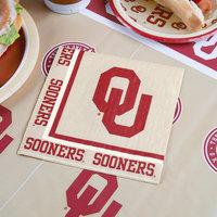 Creative Converting 664844 University of Oklahoma 2-Ply 1/4 Fold Luncheon Napkin - 240/Case