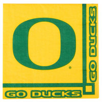 Creative Converting 654907 University of Oregon 2-Ply Beverage Napkin - 240/Case