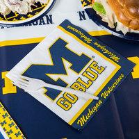Creative Converting 331400 University of Michigan 2-Ply 1/4 Fold Luncheon Napkin - 240/Case