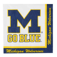 Creative Converting 331400 University of Michigan 2-Ply 1/4 Fold Luncheon Napkin - 240/Case