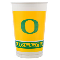 Creative Converting 379907 20 oz. University of Oregon Plastic Cup - 96/Case