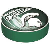 Holland Bar Stool BSCMichSt-D2 14 1/2 inch Michigan State University Vinyl Bar Stool Seat Cover