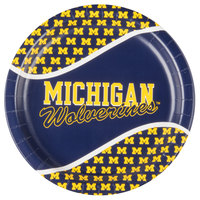 Creative Converting 331397 9 inch University of Michigan Paper Plate - 96/Case