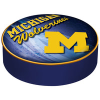 Holland Bar Stool BSCMichUn-D2 14 1/2 inch University of Michigan Vinyl Bar Stool Seat Cover