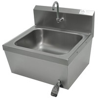 Advance Tabco 7-PS-78 Hands Free Hand Sink with Knee Operated Valve - 20 inch