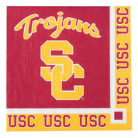 Creative Converting 654857 University of Southern California 2-Ply Beverage Napkin - 240/Case