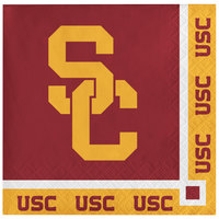 Creative Converting 330562 University of Southern California 2-Ply Beverage Napkin - 240/Case