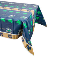Creative Converting 333085 54 inch x 108 inch Notre Dame Plastic Table Cover - 12/Case