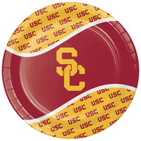 Creative Converting 330560 9 inch University of Southern California Paper Plate - 96/Case