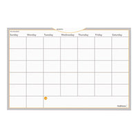 At-A-Glance AW602028 WallMates 24 inch x 36 inch Self-Adhesive Dry Erase Monthly Planning Surface