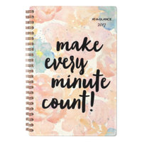 At-A-Glance 187200 B-Positive 4 7/8 inch x 8 inch Make Every Minute Count January 2018 - December 2018 Weekly / Monthly Planner