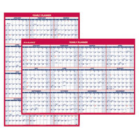 At-A-Glance PM32628 32 inch x 48 inch Blue / Red Vertical / Horizontal Erasable January 2019 - December 2019 Wall Planner