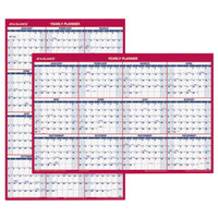 At-A-Glance PM21228 24 inch x 36 inch Blue / Red Reversible Vertical / Horizontal Yearly January 2019 - December 2019 Wall Calendar