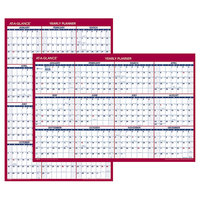 At-A-Glance PM21228 24 inch x 36 inch Blue / Red Reversible Vertical / Horizontal Yearly January 2020 - December 2020 Wall Calendar