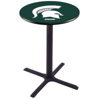 Holland Bar Stool L211B36MICHST 28 inch Round Michigan State University Pub Table