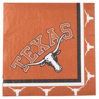 Creative Converting 664847 University of Texas 2-Ply 1/4 Fold Luncheon Napkin - 240/Case