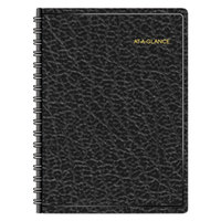 At-A-Glance 7022205 8 inch x 10 7/8 inch Black January 2018 - December 2018 Two-Person Daily Appointment Book