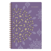At-A-Glance 122200 Vienna 4 7/8 inch x 8 inch Purple January 2019 - December 2019 Weekly / Monthly Planner