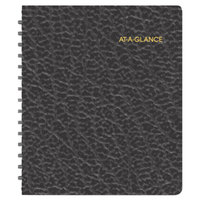 At-A-Glance 7085505 6 3/4 inch x 8 3/4 inch Black January 2018 - December 2018 Open Scheduling Weekly Planner