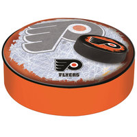 Holland Bar Stool BSCPhiFly-O-D2 14 1/2 inch Philadelphia Flyers Vinyl Bar Stool Seat Cover
