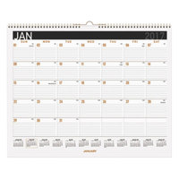 At-A-Glance PM8X28 11 7/8 inch x 14 7/8 inch Contemporary Medium Monthly January 2019 - December 2019 Wirebound Wall Calendar