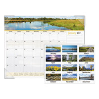 At-A-Glance 89802 22 inch x 17 inch Landscape Panoramic Monthly January 2019 - December 2019 Desk Pad Calendar