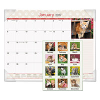 At-A-Glance DMD16732 22 inch x 17 inch Monthly January 2018 - December 2018 Kittens Desk Pad Calendar