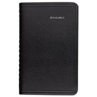 At-A-Glance G25000 DayMinder 3 3/4 inch x 6 inch Black January 2020 - December 2020 Weekly Pocket Appointment Book with Contacts Section