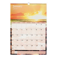 At-A-Glance DMW20028 12 inch x 17 inch Scenic Monthly January 2019 - December 2019 Wirebound Wall Calendar