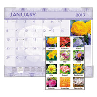 At-A-Glance DMD13532 22 inch x 17 inch Monthly January 2018 - December 2018 Antique Floral Desk Pad Calendar