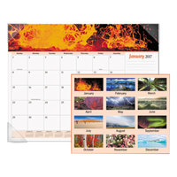 At-A-Glance DMD17032 22 inch x 17 inch Monthly January 2018 - December 2018 Mother Nature Desk Pad Calendar
