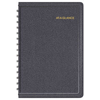 At-A-Glance 7080005 4 7/8 inch x 8 inch Black January 2018 - December 2018 Daily Appointment Book with 15-Minute Time Slots