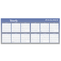 At-A-Glance A177 60 inch x 26 inch Blue / White Reversible Block / Linear Erasable January 2020 - December 2020 Wall Planner