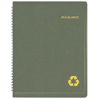At-A-Glance 70950G60 8 1/4 inch x 10 7/8 inch Green January 2018 - December 2018 Classic Weekly / Monthly Appointment Book