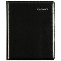 At-A-Glance G54500 DayMinder 6 7/8 x 8 3/4 inch Black January 2020 - December 2020 Executive Refillable Weekly / Monthly Planner