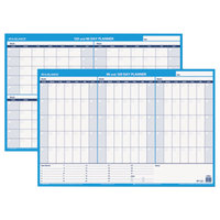 At-A-Glance PM23928 36 inch x 24 inch White/Blue 90 / 120 Day Undated Horizontal Erasable Wall Planner