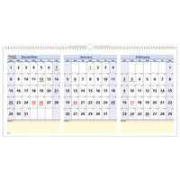 At-A-Glance PM1528 QuickNotes 23 1/2 inch x 12 inch Horizontal 3-Month Reference December 2019 - February 2021 Wirebound Wall Calendar