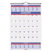 At-A-Glance PM628 15 1/2 inch x 22 3/4 inch 3-Month Reference January 2019 - December 2019 Wirebound Wall Calendar