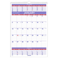 At-A-Glance PM628 15 1/2 inch x 22 3/4 inch 3-Month Reference January 2020 - December 2020 Wirebound Wall Calendar