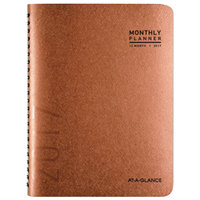 At-A-Glance 70260X70 8 7/8 inch x 11 inch Copper January 2019 - December 2019 Contemporary Monthly Planner