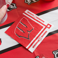 Creative Converting 654858 University of Wisconsin 2-Ply Beverage Napkin - 240/Case